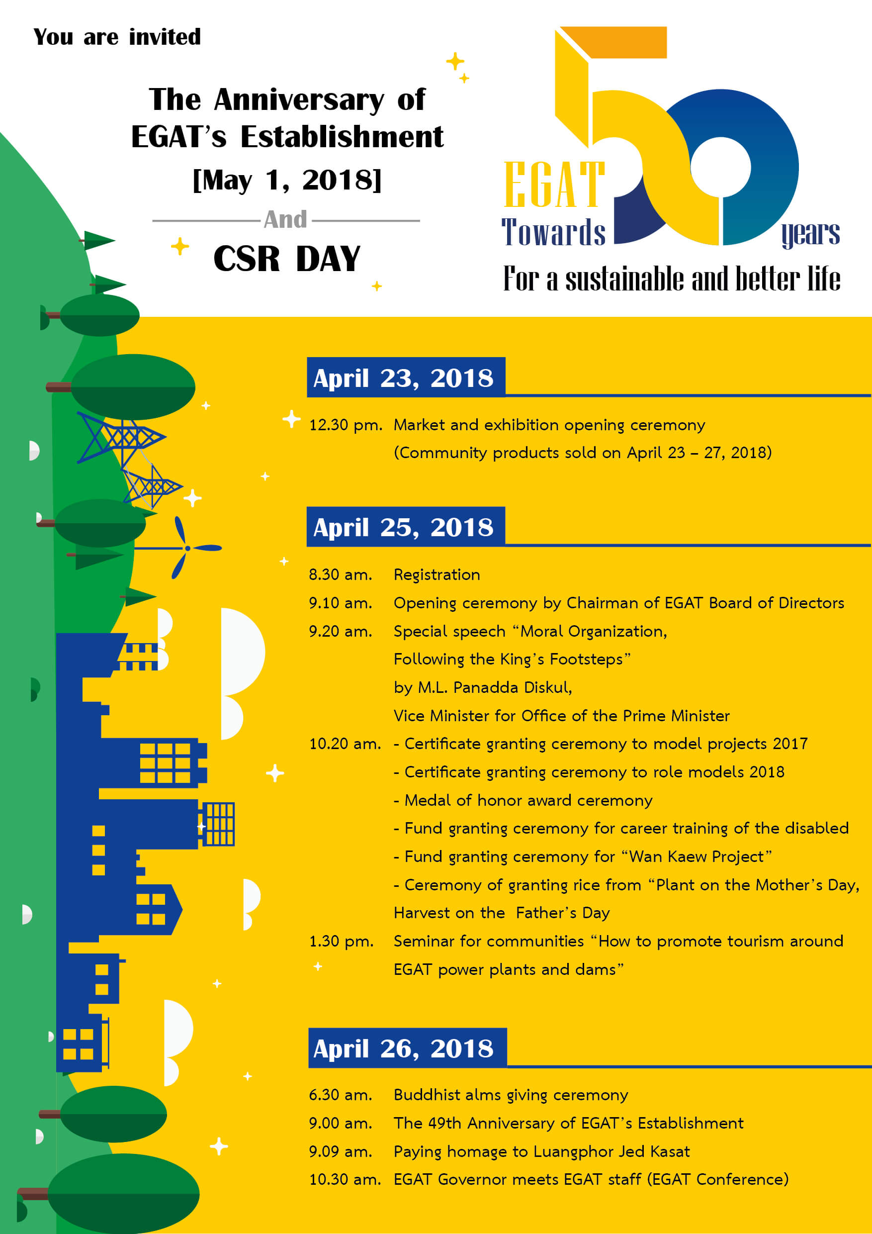 EGAT Towards 50 Years - The Anniversary of EGAT's Establishment and CSR Day