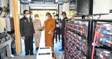 นายกฯ เยี่ยมชมสมาร์ทกริดศรีแสงธรรมในโครงการ ERC Sandbox กฟผ. หวังผลักดันสู่ต้นแบบระบบไฟฟ้าแห่งอนาคต